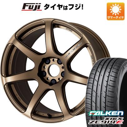 タイヤはフジ 送料無料 WORK ワーク エモーション T7R 6.5J 6.50-15 FALKEN ジークス ZE914F 185/65R15 15インチ サマータイヤ ホイール4本セット