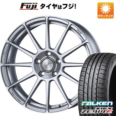 タイヤはフジ 送料無料 ENKEI エンケイ PF03 6.5J 6.50-16 FALKEN ジークス ZE914F 195/45R16 16インチ サマータイヤ ホイール4本セット