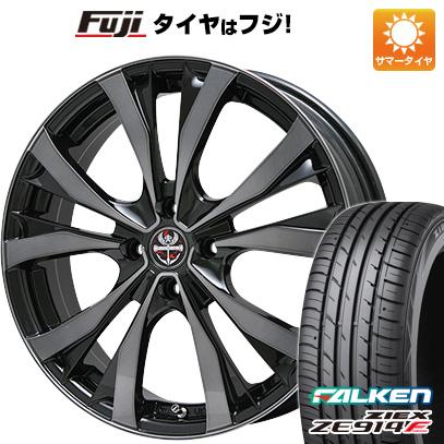 タイヤはフジ 送料無料 PREMIX プレミックス サッシカイア(ブラッククリア) 6.5J 6.50-16 FALKEN ジークス ZE914F 195/45R16 16インチ サマータイヤ ホイール4本セット