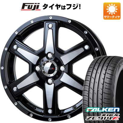 タイヤはフジ 送料無料 MKW MK-56 4.5J 4.50-15 FALKEN ジークス ZE914F 165/50R15 15インチ サマータイヤ ホイール4本セット