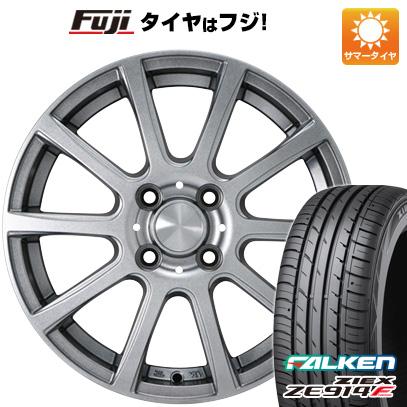 タイヤはフジ 送料無料 カジュアルセット タイプB17 メタリックグレー 4.5J 4.50-14 FALKEN ジークス ZE914F 165/55R14 14インチ サマータイヤ ホイール4本セット
