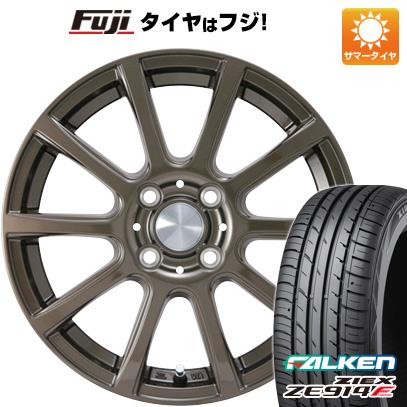 タイヤはフジ 送料無料 カジュアルセット タイプB17 ブロンズ 4.5J 4.50-15 FALKEN ジークス ZE914F 165/50R15 15インチ サマータイヤ ホイール4本セット