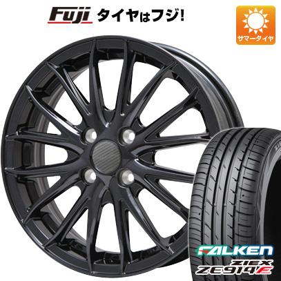 タイヤはフジ 送料無料 BRANDLE ブランドル 757B 4.5J 4.50-15 FALKEN ジークス ZE914F 165/50R15 15インチ サマータイヤ ホイール4本セット
