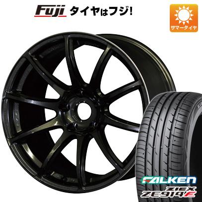 タイヤはフジ 送料無料 RAYS レイズ グラムライツ 57トランセンド 7J 7.00-17 FALKEN ジークス ZE914F 225/65R17 17インチ サマータイヤ ホイール4本セット