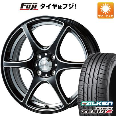 7/25はエントリーでポイント15倍 タイヤはフジ 送料無料 5ZIGEN ゴジゲン PROレーサーDF-V6 6.5J 6.50-16 FALKEN ジークス ZE914F 195/55R16 16インチ サマータイヤ ホイール4本セット