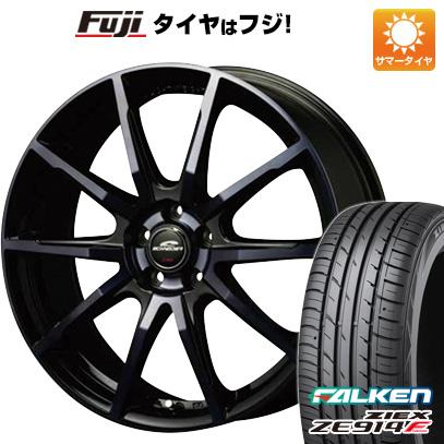 タイヤはフジ 送料無料 MID シュナイダー DR-01 7J 7.00-17 FALKEN ジークス ZE914F 215/50R17 17インチ サマータイヤ ホイール4本セット
