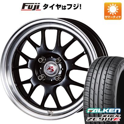 タイヤはフジ 送料無料 CRIMSON クリムソン RS ST AIRモノブロック 5.5J 5.50-15 FALKEN ジークス ZE914F 185/65R15 15インチ サマータイヤ ホイール4本セット