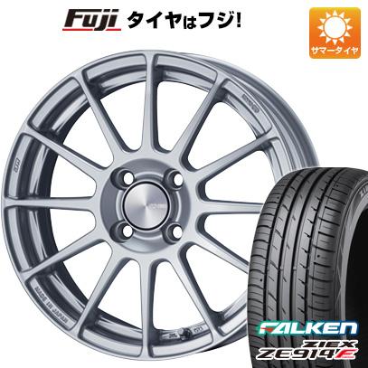 タイヤはフジ 送料無料 ENKEI エンケイ PF03 6J 6.00-15 FALKEN ジークス ZE914F 185/65R15 15インチ サマータイヤ ホイール4本セット