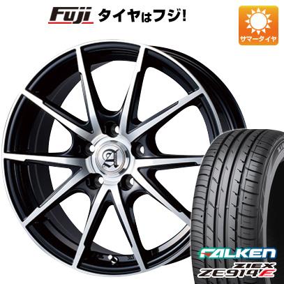 タイヤはフジ 送料無料 TECHNOPIA テクノピア アドニス JXS 7.5J 7.50-18 FALKEN ジークス ZE914F 225/50R18 18インチ サマータイヤ ホイール4本セット
