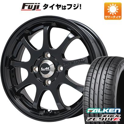 タイヤはフジ 送料無料 LMスポーツファイナル(グロスブラック) 5J 5.00-15 FALKEN ジークス ZE914F 165/55R15 15インチ サマータイヤ ホイール4本セット