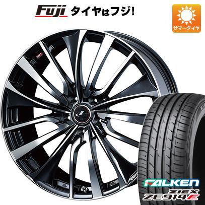 タイヤはフジ 送料無料 WEDS ウェッズ レオニス VT 7J 7.00-17 FALKEN ジークス ZE914F 215/50R17 17インチ サマータイヤ ホイール4本セット