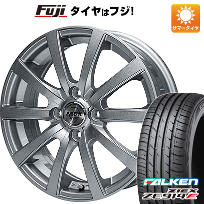 7/25はエントリーでポイント15倍 タイヤはフジ 送料無料 MONZA モンツァ ZACK JP-110 10スポーク 4.5J 4.50-14 FALKEN ジークス ZE914F 165/60R14 14インチ サマータイヤ ホイール4本セット