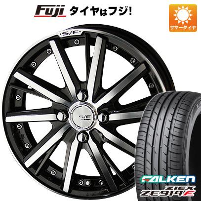 タイヤはフジ 送料無料 KYOHO 共豊 シュタイナーフォースド SF-V 6J 6.00-16 FALKEN ジークス ZE914F 195/55R16 16インチ サマータイヤ ホイール4本セット