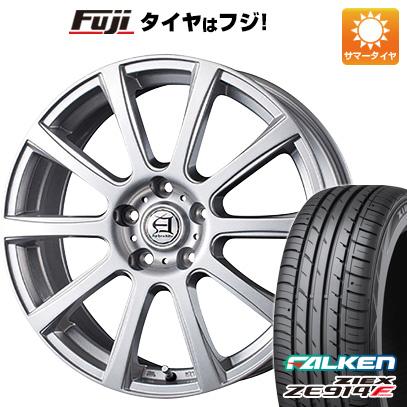 タイヤはフジ 送料無料 TECHNOPIA テクノピア アフロディーテ IS 7.5J 7.50-18 FALKEN ジークス ZE914F 225/55R18 18インチ サマータイヤ ホイール4本セット
