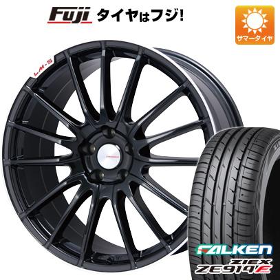 タイヤはフジ 送料無料 LEHRMEISTER LM-S トレント15 (ブラック/リムポリッシュ) 7.5J 7.50-18 FALKEN ジークス ZE914F 235/50R18 18インチ サマータイヤ ホイール4本セット