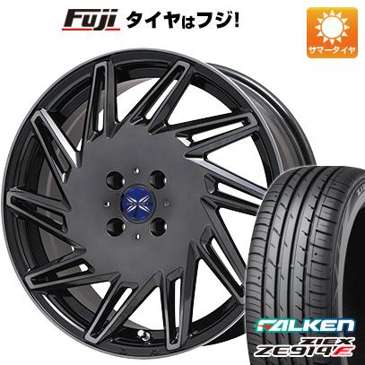 タイヤはフジ 送料無料 PREMIX プレミックス バリック(ブラッククリア) 6.5J 6.50-16 FALKEN ジークス ZE914F 195/50R16 16インチ サマータイヤ ホイール4本セット