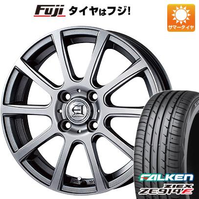 タイヤはフジ 送料無料 フリード 5穴/114 TECHNOPIA テクノピア アフロディーテ IS 6J 6.00-15 FALKEN ジークス ZE914F 185/65R15 15インチ サマータイヤ ホイール4本セット