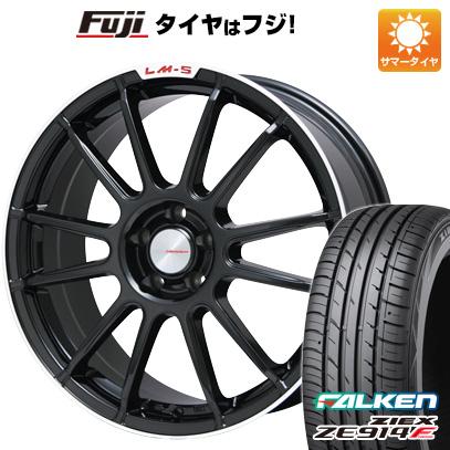 タイヤはフジ 送料無料 LEHRMEISTER LM-S トスカーナ6 (ブラック/リムポリッシュ) 7J 7.00-17 FALKEN ジークス ZE914F 225/65R17 17インチ サマータイヤ ホイール4本セット
