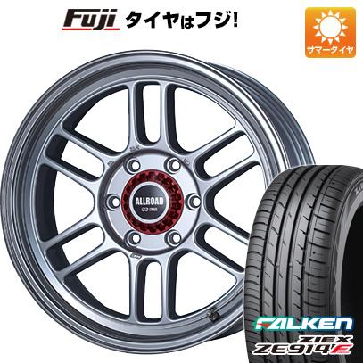 タイヤはフジ 送料無料 ハイエース200系 ENKEI エンケイ RPT1 8J 8.00-18 FALKEN ジークス ZE914F 225/50R18 18インチ サマータイヤ ホイール4本セット