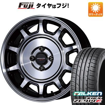 タイヤはフジ 送料無料 CRIMSON クリムソン ホクトレーシング 零式S 6J 6.00-15 FALKEN ジークス ZE914F 185/65R15 15インチ サマータイヤ ホイール4本セット
