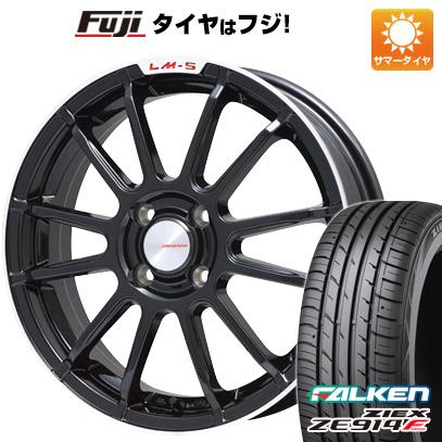 タイヤはフジ 送料無料 LEHRMEISTER LM-S トスカーナ6 (ブラック/リムポリッシュ) 6.5J 6.50-16 FALKEN ジークス ZE914F 195/55R16 16インチ サマータイヤ ホイール4本セット