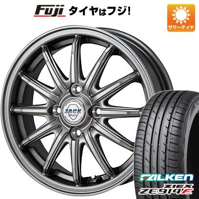 タイヤはフジ 送料無料 MONZA モンツァ ZACK JP-812 4.5J 4.50-15 FALKEN ジークス ZE914F 165/50R15 15インチ サマータイヤ ホイール4本セット