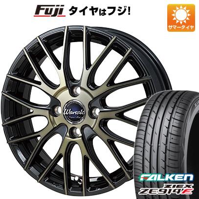 タイヤはフジ 送料無料 MONZA モンツァ ワーウィック エンプレス メッシュ 6J 6.00-15 FALKEN ジークス ZE914F 185/60R15 15インチ サマータイヤ ホイール4本セット