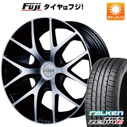 タイヤはフジ 送料無料 ハイエース200系 M-TECHNO エムテクノ M.T.S. SSL6 8J 8.00-18 FALKEN ジークス ZE914F 225/50R18 18インチ サマータイヤ ホイール4本セット