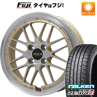 タイヤはフジ 送料無料 BIGWAY ビッグウェイ LEYCROSS レゼルヴァ 4.5J 4.50-15 FALKEN ジークス ZE914F 165/55R15 15インチ サマータイヤ ホイール4本セット