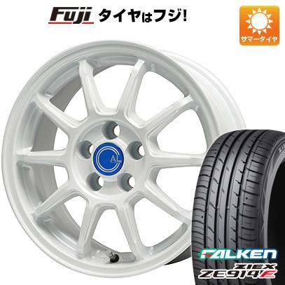 タイヤはフジ 送料無料 BRANDLE-LINE ブランドルライン カルッシャー ホワイト 7J 7.00-17 FALKEN ジークス ZE914F 225/65R17 17インチ サマータイヤ ホイール4本セット