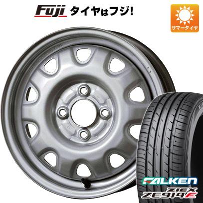 タイヤはフジ 送料無料 ELBE エルベ オリジナル スチール M73 4.5J 4.50-14 FALKEN ジークス ZE914F 165/55R14 14インチ サマータイヤ ホイール4本セット