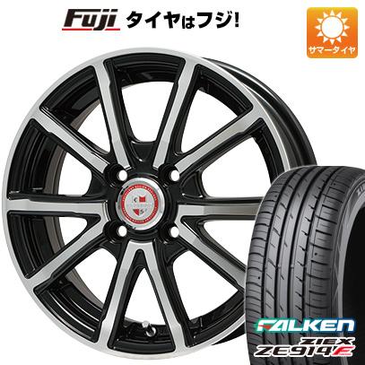 タイヤはフジ 送料無料 BIGWAY ビッグウェイ EXPLODE BPV 4.5J 4.50-14 FALKEN ジークス ZE914F 165/55R14 14インチ サマータイヤ ホイール4本セット