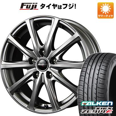 タイヤはフジ 送料無料 MID ユーロスピード V25 6J 6.00-16 FALKEN ジークス ZE914F 195/45R16 16インチ サマータイヤ ホイール4本セット