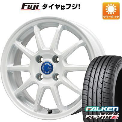 タイヤはフジ 送料無料 BRANDLE-LINE ブランドルライン カルッシャー ホワイト 4.5J 4.50-14 FALKEN ジークス ZE914F 165/60R14 14インチ サマータイヤ ホイール4本セット