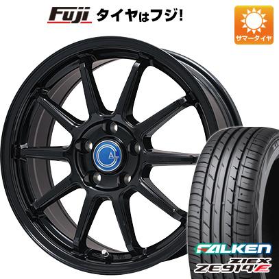 タイヤはフジ 送料無料 BRANDLE-LINE ブランドルライン カルッシャー ブラック 7J 7.00-17 FALKEN ジークス ZE914F 205/50R17 17インチ サマータイヤ ホイール4本セット