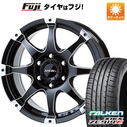タイヤはフジ 送料無料 ハイエース200系 MKW MK-76 8J 8.00-18 FALKEN ジークス ZE914F 225/50R18 18インチ サマータイヤ ホイール4本セット