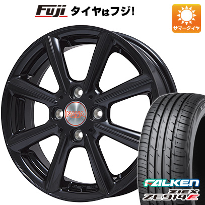タイヤはフジ 送料無料 PREMIX プレミックス ナナ(グロスブラック) 4.5J 4.50-15 FALKEN ジークス ZE914F 165/55R15 15インチ サマータイヤ ホイール4本セット