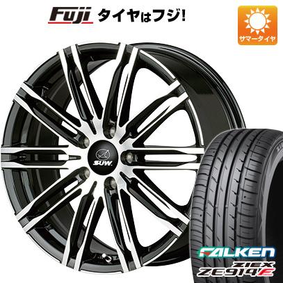 タイヤはフジ 送料無料 CLIMATE SUW エクスカリバーライト 7.5J 7.50-18 FALKEN ジークス ZE914F 215/45R18 18インチ サマータイヤ ホイール4本セット