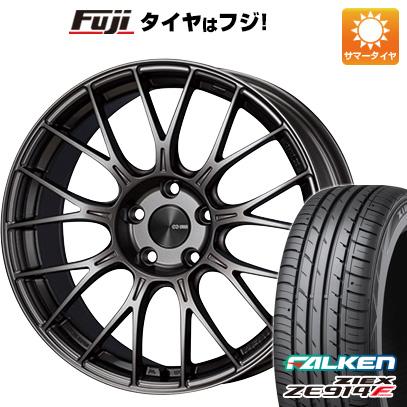 タイヤはフジ 送料無料 ENKEI エンケイ PFM1 F:8.00-18 R:9.00-18 FALKEN ジークス ZE914F F:225/50R18 R:245/45R18 サマータイヤ ホイール4本セット
