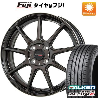 タイヤはフジ 送料無料 HOT STUFF ホットスタッフ クロススピード ハイパーエディションRS-9 4.5J 4.50-15 FALKEN ジークス ZE914F 165/50R15 15インチ サマータイヤ ホイール4本セット