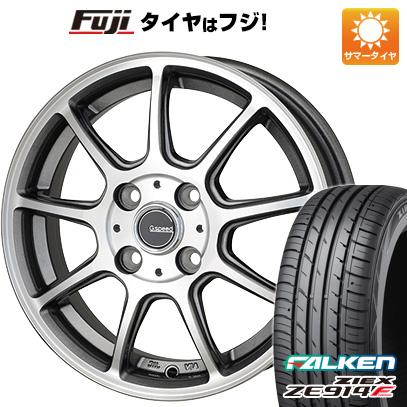 タイヤはフジ 送料無料 HOT STUFF ホットスタッフ ジースピード P-01 4.5J 4.50-14 FALKEN ジークス ZE914F 165/60R14 14インチ サマータイヤ ホイール4本セット