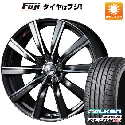 タイヤはフジ 送料無料 WEDS ウェッズ レオニス SL 6.5J 6.50-17 FALKEN ジークス ZE914F 205/50R17 17インチ サマータイヤ ホイール4本セット