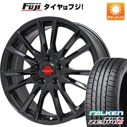 タイヤはフジ 送料無料 BIGWAY ビッグウエイ LEYBAHN GBX 7.5J 7.50-18 FALKEN ジークス ZE914F 215/40R18 18インチ サマータイヤ ホイール4本セット