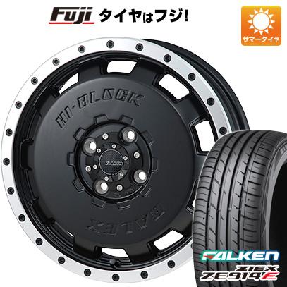 タイヤはフジ 送料無料 MONZA モンツァ HI-BLOCK バレックス 4.5J 4.50-15 FALKEN ジークス ZE914F 165/55R15 15インチ サマータイヤ ホイール4本セット