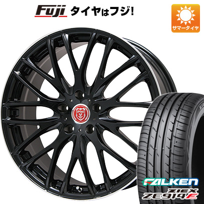 タイヤはフジ 送料無料 PREMIX プレミックス グラッパ(ブラック/リムポリッシュ) 7J 7.00-18 FALKEN ジークス ZE914F 225/55R18 18インチ サマータイヤ ホイール4本セット