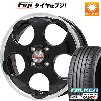 タイヤはフジ 送料無料 PREMIX マル(ブラック/リムポリッシュ) 4.5J 4.50-15 FALKEN ジークス ZE914F 165/55R15 15インチ サマータイヤ ホイール4本セット