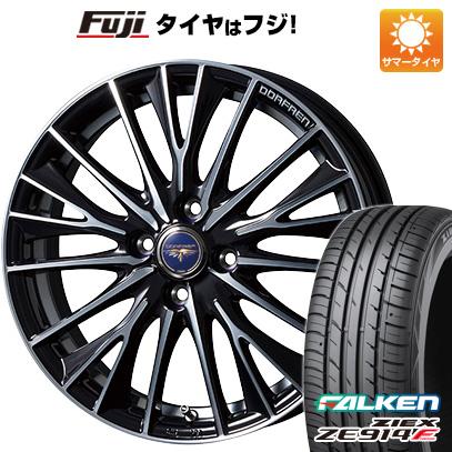 タイヤはフジ 送料無料 TOPY トピー ドルフレン デルディオ 5.5J 5.50-15 FALKEN ジークス ZE914F 185/60R15 15インチ サマータイヤ ホイール4本セット
