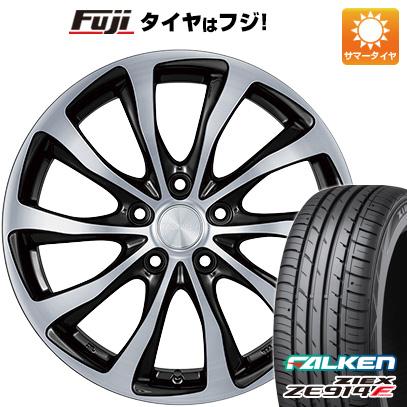 タイヤはフジ 送料無料 プリウス50系専用 BRIDGESTONE ブリヂストン バルミナ T10 トヨタ車専用 6.5J 6.50-15 FALKEN ジークス ZE914F 195/65R15 15インチ サマータイヤ ホイール4本セット