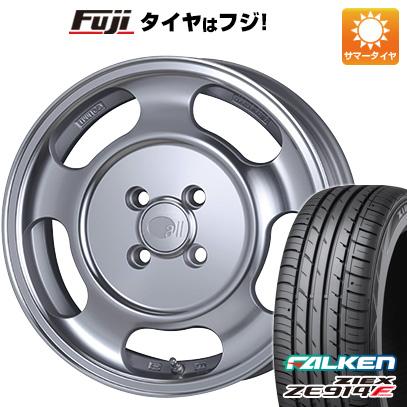 タイヤはフジ 送料無料 ENKEI エンケイ allシリーズ オールセブンティーン 5.5J 5.50-15 FALKEN ジークス ZE914F 185/65R15 15インチ サマータイヤ ホイール4本セット