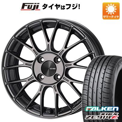 タイヤはフジ 送料無料 ENKEI エンケイ PFM1 6J 6.00-15 FALKEN ジークス ZE914F 175/65R15 15インチ サマータイヤ ホイール4本セット